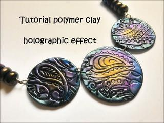 FIMO Tutorial Polymer Clay Holographic Effect ENGLISH