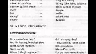 Lithuanian Language Course For English Speakers. Anglų Kalbos Kursas.