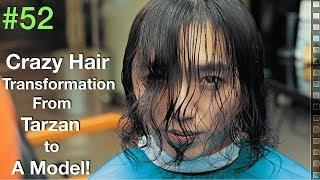 Curly Hair Transformation 2019 ✔︎ (Scissors Haircut Tutorial) Natural Hair | Barber UAE/USA
