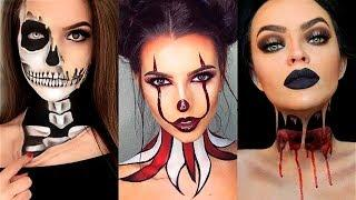 INCREÍBLES MAQUILLAJES PARA HALLOWEEN #22 / Easy Halloween Make Up Tutorial 2017