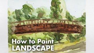 How to Paint a Bridge - Plein Air Watercolor Painting Tutorial