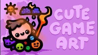 MAKING CUTE GAME CHARACTERS - COOL TUTORIAL !