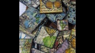 napkin and chipboard tiles   easy tutorial