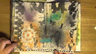Kurs - Konstjournal - Hos Scrap&Hobby // Preview Of An Art Journal Class At Scrap&Hobby