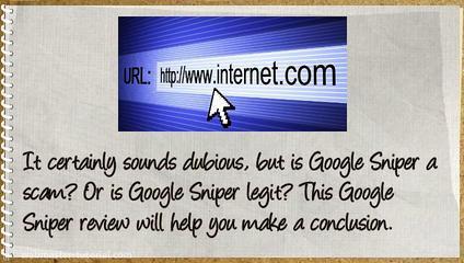 Google Sniper Scam.
