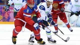 RUSSIA Beats SLOVENIA In Men's ICE HOCKEY