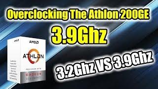 AMD 200GE Overclocked To 3.9GHZ  - Comparison and Tutorial