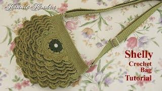 Crochet || Tutorial Crochet Bag - Shelly Crochet Bag || Shell Stitch