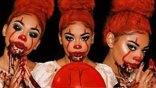 IT 2017   PENNYWISE GLAM Halloween Makeup Tutorial   jasmeannn