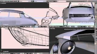 How To Model A Car In Blender 2.50 TUTORIAL Italian Version, Part 4
