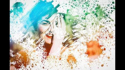 Photoshop Tutorial - Astonishing Photo Effects Paint Splash On Face Using Brush