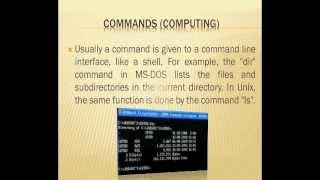 UCSG English Tutorial: Commands