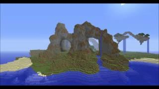 Voxel Sniper Example Mountains And Flyling Islands