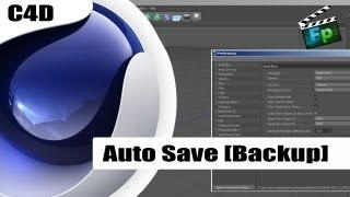 Auto Save [BACKUP]  - Tutorial Cinema 4D - Português - F.P