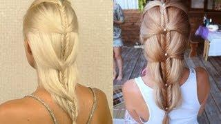 Cascading French Fishtail Braid. Princess Fairy Valentine's Day, Wedding, Prom Hairstyle Tutorial