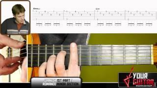 Guitar Lesson&TAB: Spanish Romance - Acoustic Tutorial P1 - How To Play Minor Section