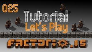 Factorio Alpha .15 Tutorial Let's Play Episode 025 - Southern Wall is Up!