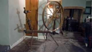 Georgian Great Wheel, Free Spinning Demonstration.