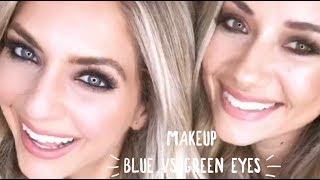 Blue vs Green Eyes Makeup Tutorial w/ Madison Fisher