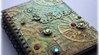 Steampunk Mixed Media Journal Cover Tutorial