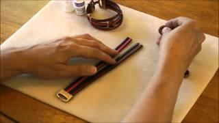 Antelope Beads Using 5mm Italian Flat Leather Tutorial - Beginner