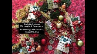 Tutorial & Flip - Micro Tim Holtz Christmas Junk Journals