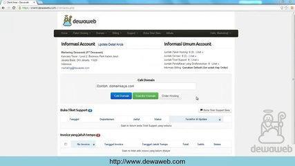 Dewaweb Client Area Tutorial Cara Membuat Sub Account