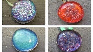 Recycled Nail Polish Stones Christmas Ornaments Craft Tutorial