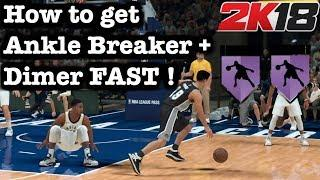 NBA 2K18 How to Get Ankle Breaker Badge + Dimer Badge Tutorial Fastest way to get Ankle Breaker