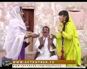 Pashto funny video in drama Khyber tv Syed Rahman Shino