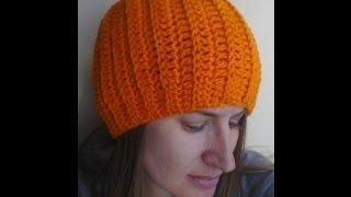 Easy Ribbed Hat Crochet Tutorial - Can Be Made Into A Slouch