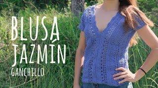 Tutorial Blusa Jazmín Fácil y Rápida Ganchillo - Crochet | Lanas y Ovillos