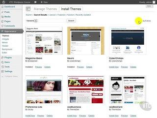 Wordpress Tutorial for Beginners 04 Themes