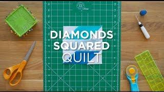 Diamonds Squared Quilt Block - Quilt Snips Mini Tutorial