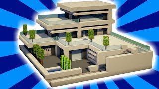 MINECRAFT : Tutorial Cara Membuat Rumah Besar Modern (1)