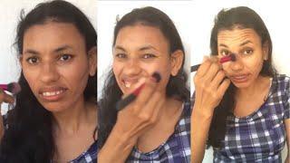 Tutorial de maquiagem com branca