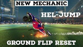 Crazy New Rocket League Mechanic | Hel-Jump Tutorial | Jump Off The Ground With A Flip Reset