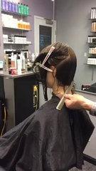 How to cut a Layered Bob haircut tutorial