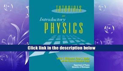 Ebook Tutorials in Introductory Physics Download online