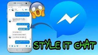 STYLE IT CHAT IN MESSENGER FULL TUTORIAL 2019 (TAGALOG)
