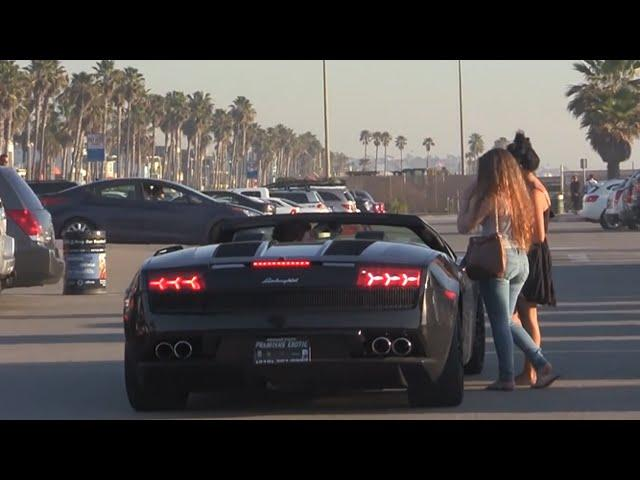 Lamborghini Gold Digger Prank with Stutter