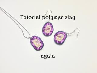 FIMO Tutorial Polymer Clay Faux Agata ENGLISH