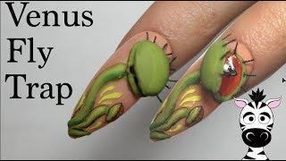 4D Venus Fly Trap Acrylic Nail Art Tutorial