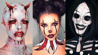 INCREÍBLES MAQUILLAJES PARA HALLOWEEN #17 / Easy Halloween Make Up Tutorial 2017