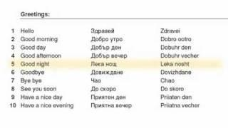 Learn Bulgarian With 100 Words Lesson 1 (Greatings)