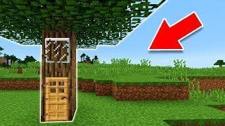 Minecraft | Como vivir dentro de un ÁRBOL Tutorial (Pocket Edition, Xbox, PC)