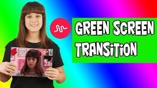 Musically Tutorial: GREEN SCREEN Transition - Valentina Olivieri