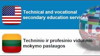 Learn Lithuanian = Topic = Education And Training Services