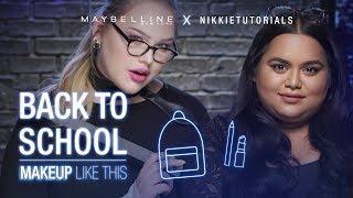 How To Slay Back To School Tutorial ft. Nikkie Tutorials + Nabela Noor | Maybelline New York
