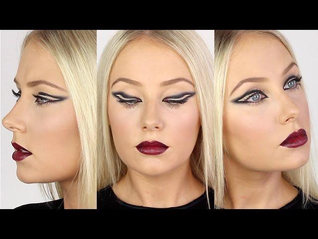Inverted Smoked-Out Eyeliner & Ombre Vampy Lips!